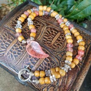 Lovely Cherry Quartz Necklace