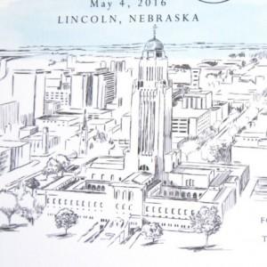 Lincoln, Nebraska Skyline Hand Drawn Save the Date Cards (set of 25 cards)