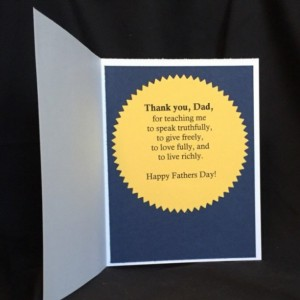 Sentimental Dads Day, Love Card Him, Father's Day Card, Card for Dad, Dad's Day No Fishing, Manly Father's Day, Father Card Thanks