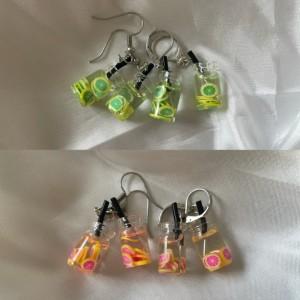Fruity Boba Tea Charm Earrings
