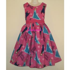 NEW Handmade Peppa Pig Pink Girl Dress Custom Sz 12M-14Yrs