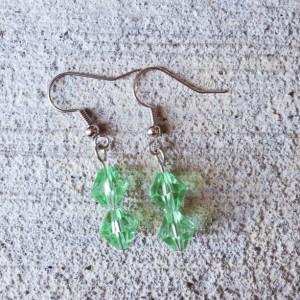 Beautiful Handmade Green Glass Dangle Drop Earrings
