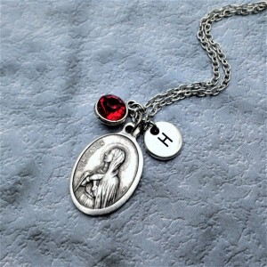 Personalized Saint Monica Necklace. Patron Saint of Difficult Marriages, Victims of Adultery and Verbal Abuse