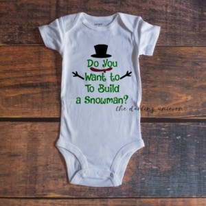 Do you want to build a snowman infant girl bodysuit