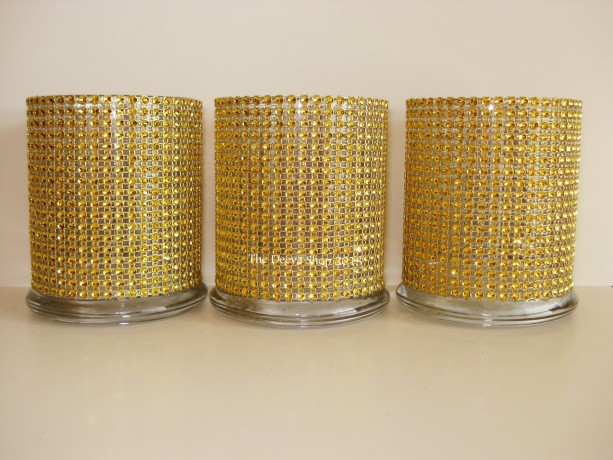 Glass Cylinder Vases Gold Bling Wedding 50th Anniversary Cocktai Aftcra