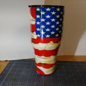 American flag 40oz tumbler