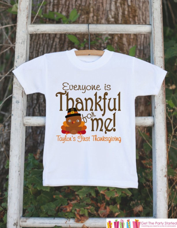 b1647e93 ... First Thanksgiving Outfit - Turkey Thankful For Me Thanksgiving Shirt  or Onepiece - Thanksgiving for Boy ...