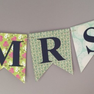 Miss to Mrs. Banner - Bridal Shower Banner - Bachelorette Banner - Bachelorette Party -
