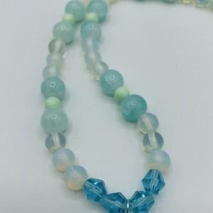 """27"""" Aqua and Moonstone Necklace"""
