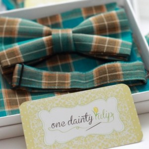 Preppy Turquoise and Brown Plaid Bow Tie - Wedding Bow Tie Groom Groomsmen Dog Baby Toddler Kids