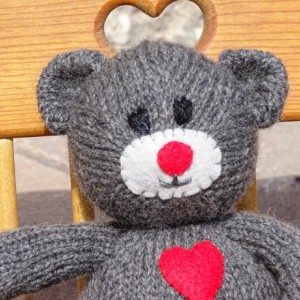 Bear, Knitted Toy, Teddy Bear, Grey Bear, Wool Toy, Hand Knitted Toy, Ready To Ship, Kids Bear