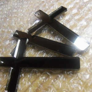 cross charms,mirror crosses,laser cut charms,