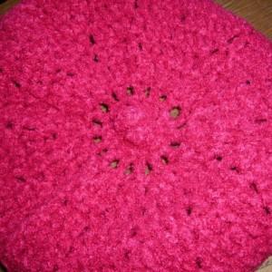 Crocheted Women's  Pink Blush  Beret Cap