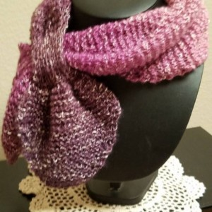 60's Vintage Stylish Ascot Scarf-Women's Fall-Winter Apparel,Retro Women's Hand Knitted Apparel and Accessories, ready to ship!