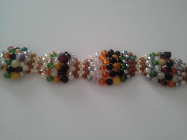 Gemstone Peyote Bracelet