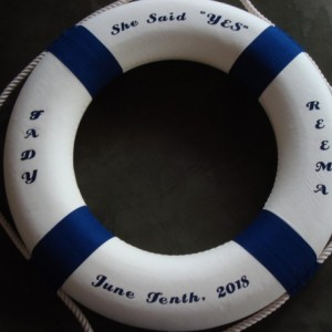 Nautical Life Ring Customized 13.75""