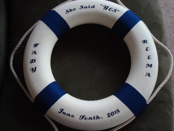 """Nautical Life Ring Customized 13.75"""""""