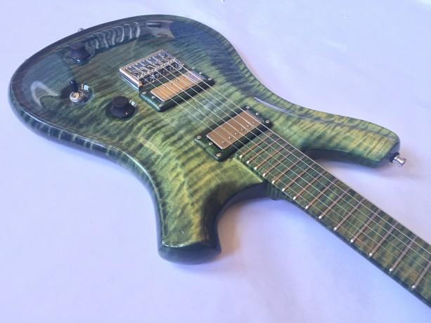 Customizable Anu Custom Electric Guitar   Cygnus in CHlora Fade