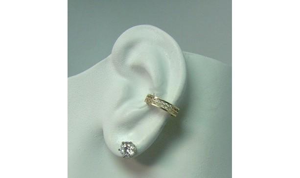 POST Conch Pierced Cartilage Earring Post Gold Body Piercing Conch Hoop Body Jewelry Conch Ear Cuff Inner Ear Conch Ring Lattice  EG1GFP