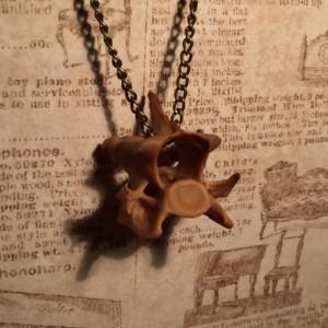 Simple Fox Vertebra Necklace