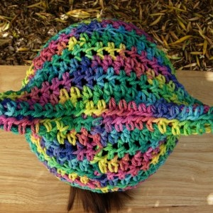 Women's or Men's Colorful Rainbow Summer Pussy Cat Hat 100% Cotton Lightweight Blue Yellow Green Pink Purple Crochet Knit Thin Beanie, Ready to Ship in 3 Days