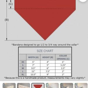 Over the collar pet bandannas (68 options)