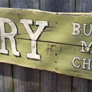 Handcrafted Distressed Reclaimed Wooden Primitive Country Dairy Sign