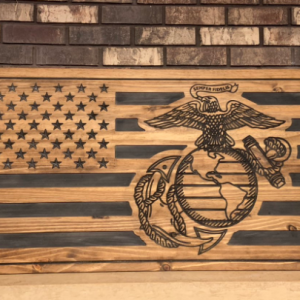 Marine Corps Decor USMC American Flag Gifts for Marines Military Gifts Military Decor
