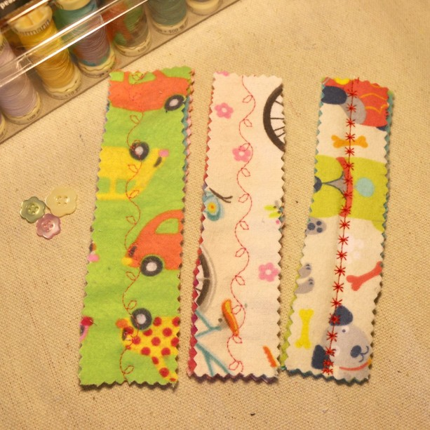 Soft Flannel/Fleece Bookmarks - Set of 3