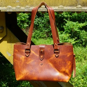 Large Chic Leather Tote - Horween / Handstitched / USA