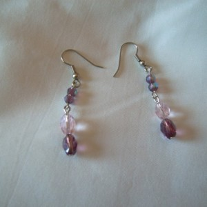 Pink and Purple Sparkler Earrings