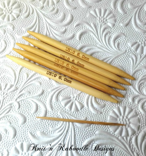 10US (4 Inches SHORT) DoublePointed Knitting Needles Bamboo