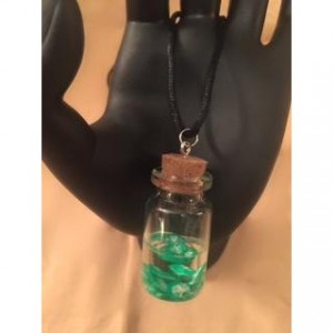 Lime Slice Bottle Pendant