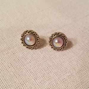 Faux Antique Opal Earrings