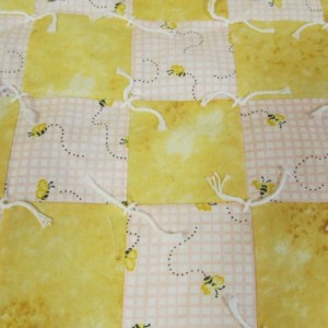 Handmade Tied Quilt for Baby - Crib Size