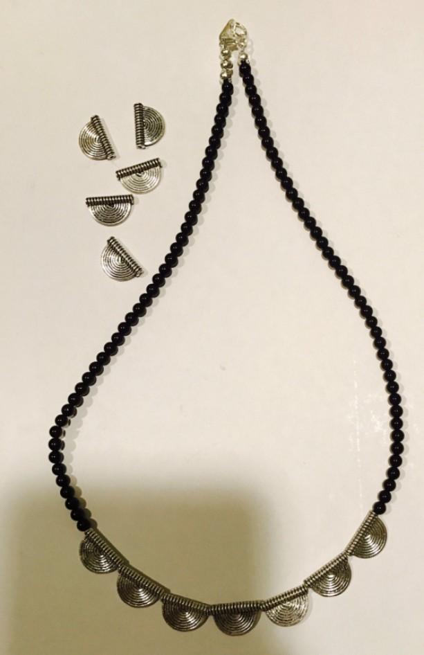 Black Jasper Round Beaded Necklace