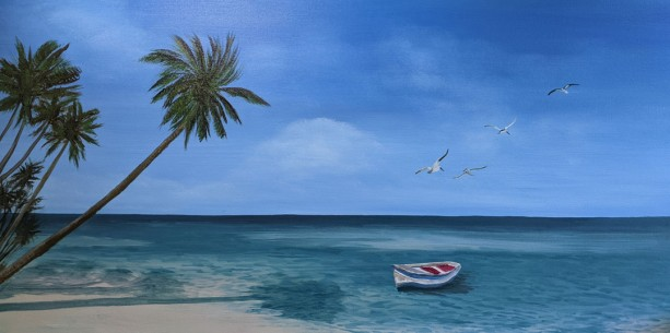 Palm Trees Oil Painting