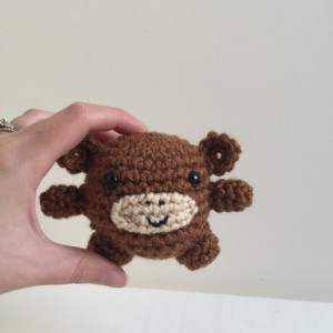 Mini amigurumi monkey, amigurumi, crochet monkey, tiny monkey, monkey, kawaii, small monkey, monkey plush, monkey plushie, under 15,brown
