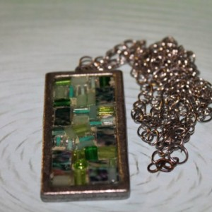 Stained Glass Pendant Necklace