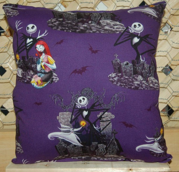Nightmare Before Christmas Pillow Jack Skellington & Sally Pillow