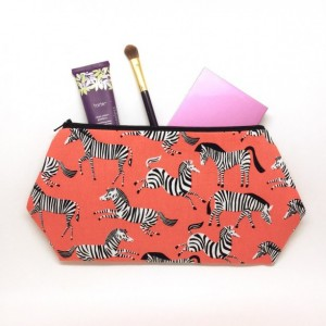 Zebra Cosmetic Bag - Travel Bag, Zebra Fabric, Large Cosmetic Bag, Zebra Bag, Gifts for Mom, Zippered Pouch, large toiletry bag