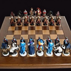 Handmade Tin Chess Sets French - Hand painted