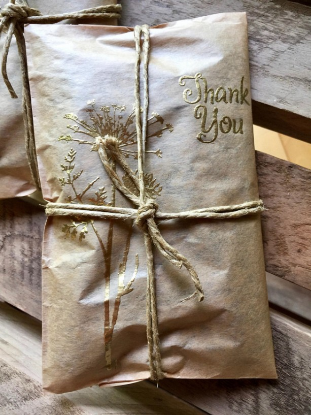 50 Rustic Wedding Favors. Elegant Handmade Wedding Favors. Gold Embossed. Unique Wedding Ideas. Fresh Roasted Coffee.