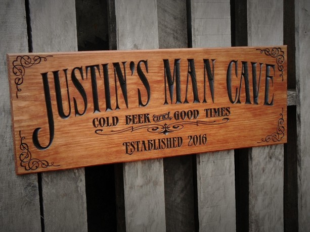 Man cave bar sign - Personalized - Pub sign - Business signage - Christmas Gift for him - Groomsman gift