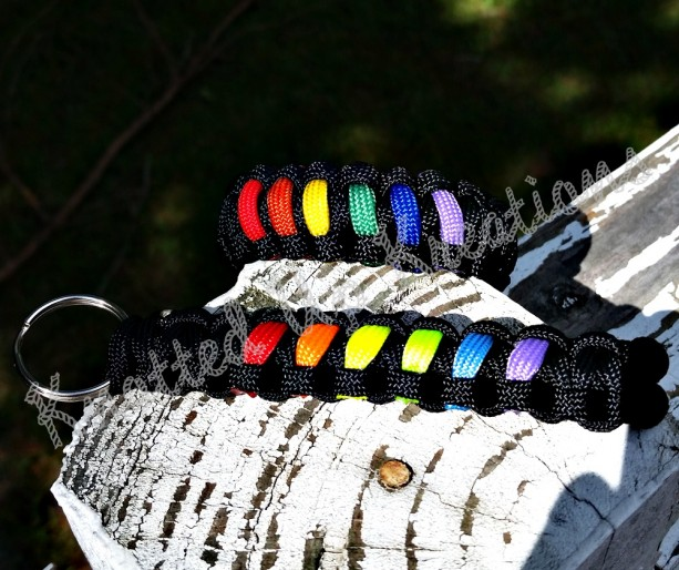 LGBT Pride Paracord Bracelet and Keychain Set