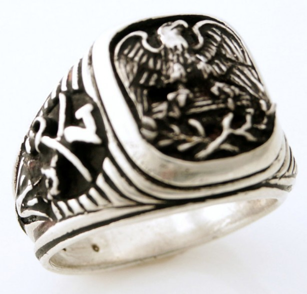 American eagle Seventh Cavalry ring sterling silver