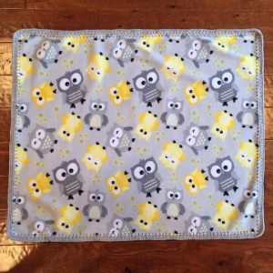 Fleece Owl Print Blanket