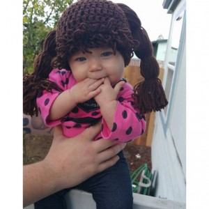 Cabbage patch wig hat beanie halloween costume
