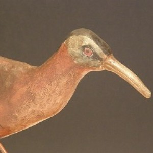 Hamd Carved and Painted Wooden Bird - Virginia Rail