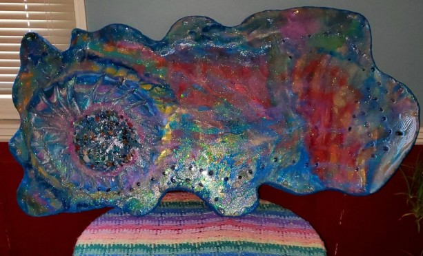 "Stunning Eco-Epoxy Resin Geode Coffee Table. 4'x3'X2"" Approx. 50 lbs.For the person on your holiday list where only the best will do.."